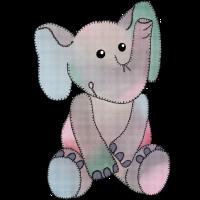 Stickbild Elefant