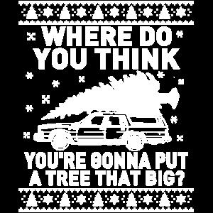 Ugly Christmas Auto Tannenbaum