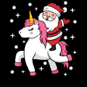 Weihnachtsmann Einhorn Nikolaus Weihnachtsgeschenk