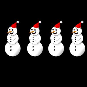 Weihnachtliche Schneemänner Geschenk