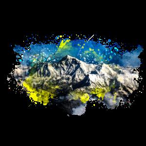 Berg Natur Wasserarben auf Papier erstellt