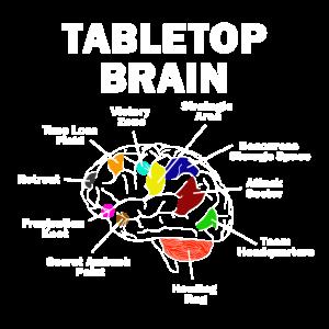 Tabletop Brain funny Gift Idea Nerd fun Game Gamer