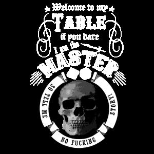 Master RPG Skull Shirt Geschenk Idee Spruch lustig