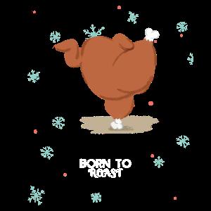 Born to Roast lustiges BBQ Weihnachts T-shirt