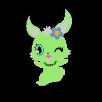 Hase grün niedlich Hasen