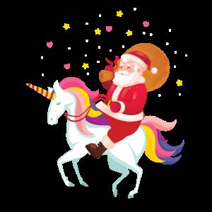 Weihnachtsmann auf EInhorn