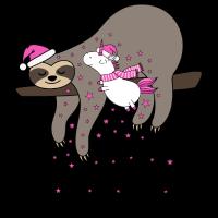Faultier Einhorn Sternenstaub Weihnachten Winter