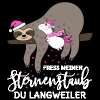 Einhorn Faultier Sternenstaub Weihnachten Winter