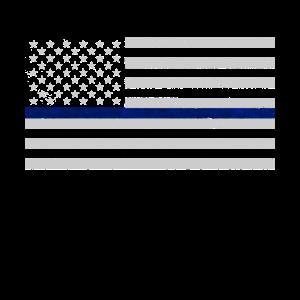 Dünne blaue Linie US-Flagge
