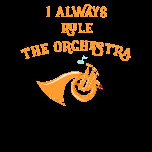 Waldhorn Ich beherrsche das Orchester-Blechblasinstrument