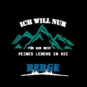 Wander Shirt · Berge Wald · Leben Geschenk