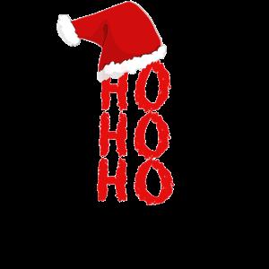 Weihnachten HO HO HO Weihnachtsmütze Weihnachtsman