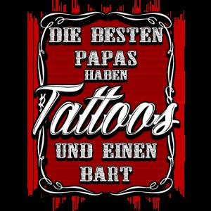 Tattoos und Bart - Die besten papa und Väter