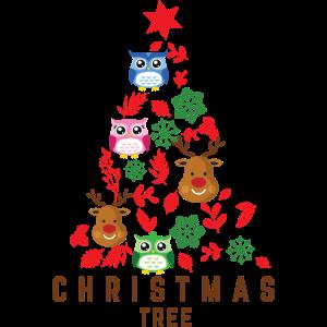 Weihnachtsbaum Rentier Eule Christkind Liebe