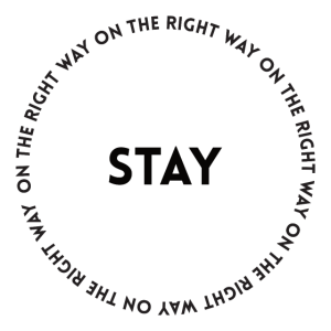STAY - blank and font
