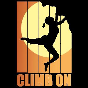 Bouldern Climbing Klettern Frauen Retro