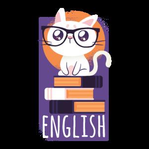 Englisch Übersetzer Katze Tshirt Geschenk