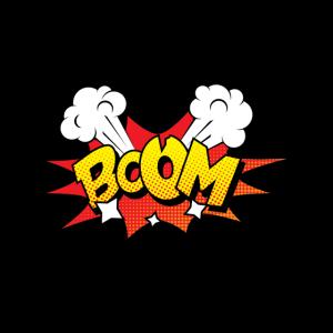Comic Comicstyle Comic-Strips BOOM Superheld Nerd