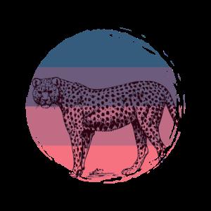Gepard Afrika Raubkatze Asien Raubtier Vintage