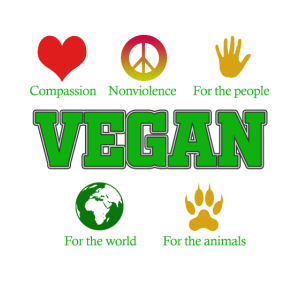 Vegan Tshirt - For the people / For the animals