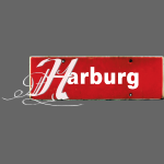 HAMBURG Harburg mit Initial im Tattoo-Stil