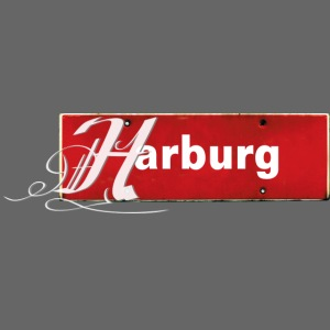 Top: Harburg-Schild mit Schmuckinitial