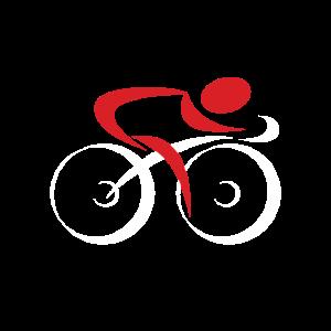 Rennradfahrer Fahrrad Logo Weiß Rot