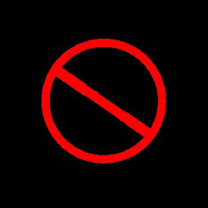 Verbotszeichen I Sex mit Tieren verboten