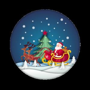 Der Weihnachtsmann und seine Rentiere