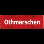 HAMBURG Othmarschen rotes Ortsschild antik