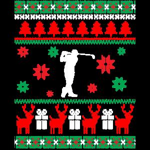 Ugly Christmas Sweater Golf Geschenk Weihnachten
