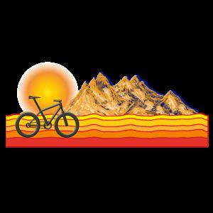 Berge Sonnenaufgang Mountainbike