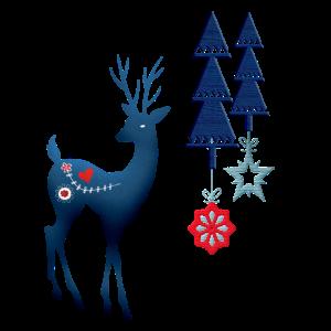 Rentier Weihnachtsbaum Weihnachten