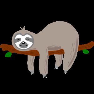 Faultier faul müde gammeln Sloth Geschenkidee