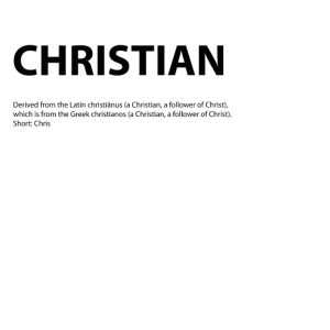 Name Christian Geschenk Idee