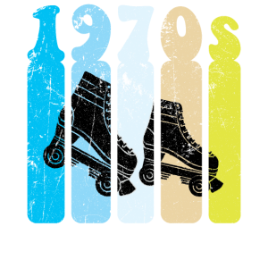 70er Jahre Roller Skates Disco Derby Retro