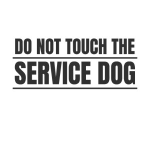 Do not touch the Service Dog Therapie Hund