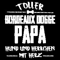 Bordeaux Dogge Hund Lieber Papa Herz Herrchen