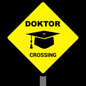 Doktor Schild mit Doktorhut Geschenk Doktorarbeit