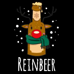 Lustiges Rentier Weihnachts-PartyShirt - REINBEER