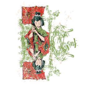 Geisha Girl Distressed