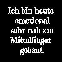 Emotional am Mittelfinger gebaut Misanthrop