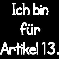 Ich bin für Artikel 13.