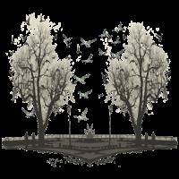 Vögel auf den Bäumen
