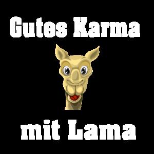 lustiger Karma mit Lama Spruch