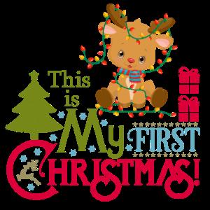 1. Weihnachten Rentier Geschenk Idee baby Geburt
