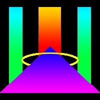 Bunte Pyramide Farben Abstrakte Formen
