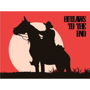 Outlaw Cowboy Western - Geschenk - Pferd