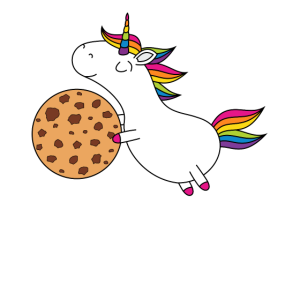 Einhorn Keks Spruch Donut go me on the cookie ws