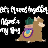 Alpaka my bag Geschenk Idee weiss